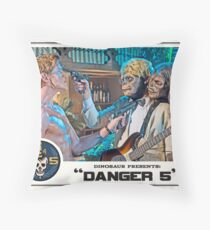 "Danger 5 Lobby Card #7 - ""Yeah, let's pop him"" Throw Pillow"