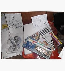 Art materials -(090413)- Digital photo/FujiFilm AX350 Poster
