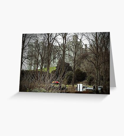 Castle through the trees Greeting Card