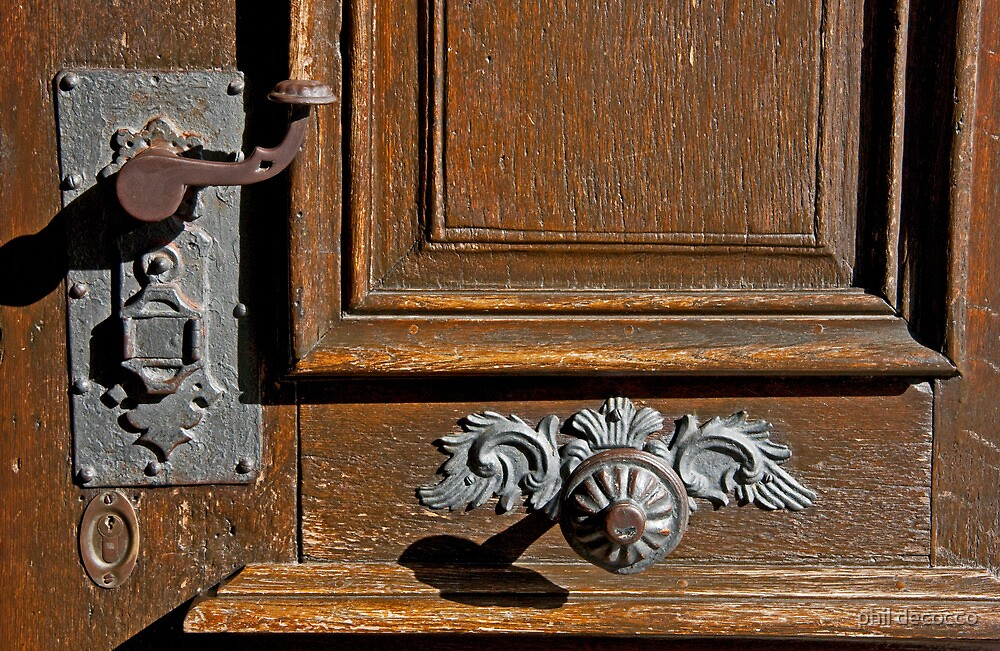 Handle, Lock And Bell by phil decocco