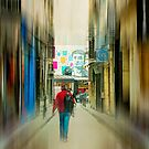 Lost In The Maze Of The City by John Rivera