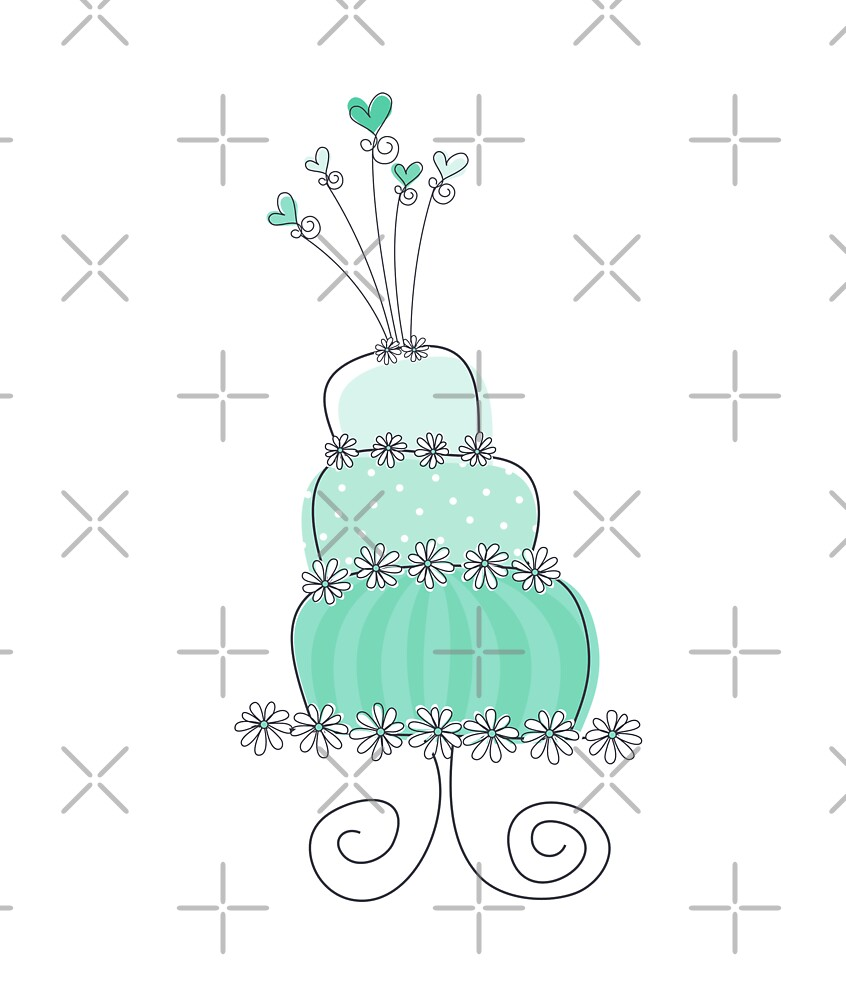 Sweet Mint Whimsical Wedding Cake by fatfatin