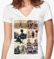 Life of McQueen Women's Fitted V-Neck T-Shirt