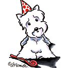 Westie Party Animal by offleashart