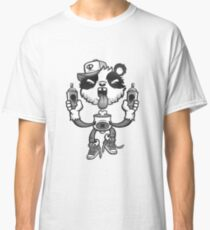 Black and White Graffiti Panda. Classic T-Shirt
