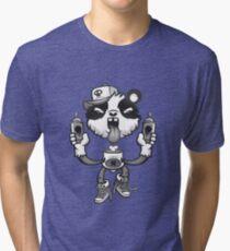 Black and White Graffiti Panda. Tri-blend T-Shirt