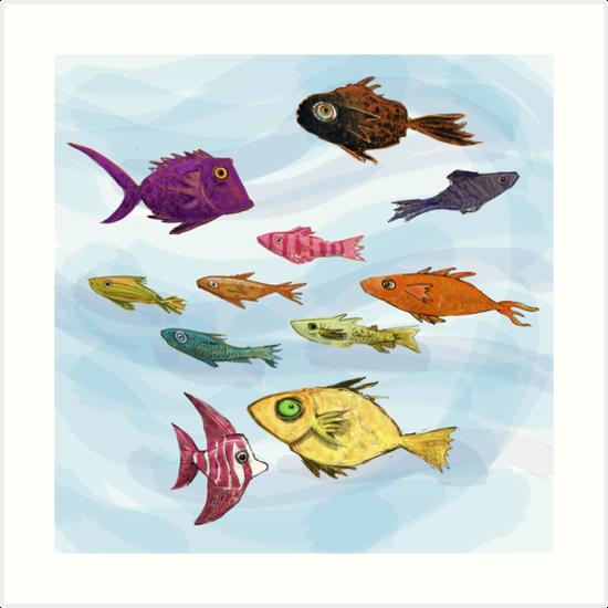 Schooling Fish by Jonathan Grauel