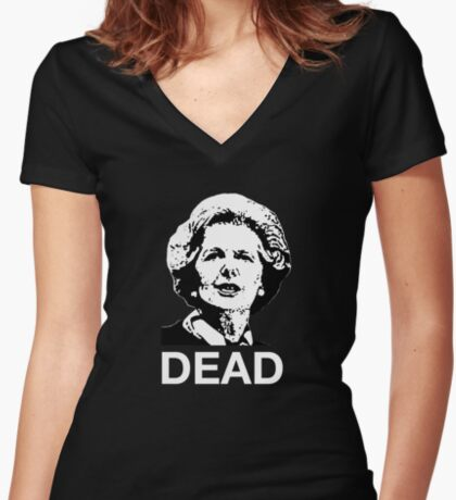 Dead (black or dark fabric) Women's Fitted V-Neck T-Shirt