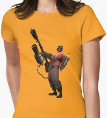 Cocky Pyro - TF2 Class Womens Fitted T-Shirt
