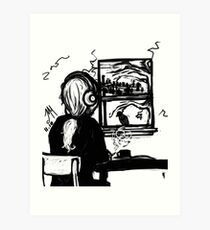 A Crow Left of the Murder  Art Print