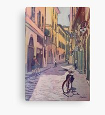 Waiting Bike Canvas Print