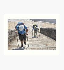 Portomarin Steps, Camino de Santiago, Spain Art Print