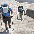Portomarin Steps, Camino de Santiago, Spain by Mark Higgins