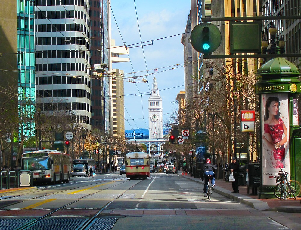 End of Market and the Ferry Building by David Denny