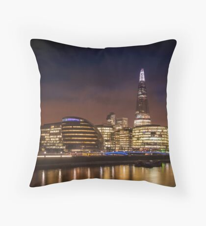 The Shard at night, London. Throw Pillow
