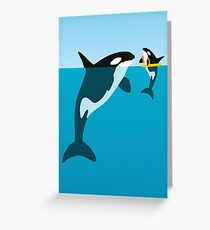 Orca Greeting Card