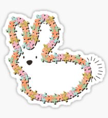 Pastels Jigsaw Whimsical Baby Bunny Sticker