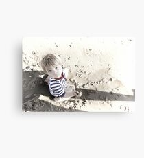 My First day at the beach Canvas Print