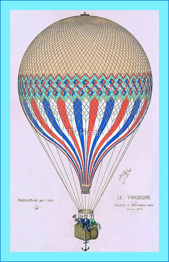 French Hot Air Balloon by Tickleart