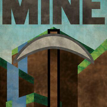 Minecraft MINE by Justonescarf