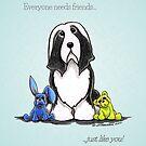 Friend Like You Beardie Greeting Cards by offleashart