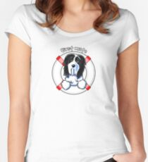 Bearded Collie :: First Mate Women's Fitted Scoop T-Shirt
