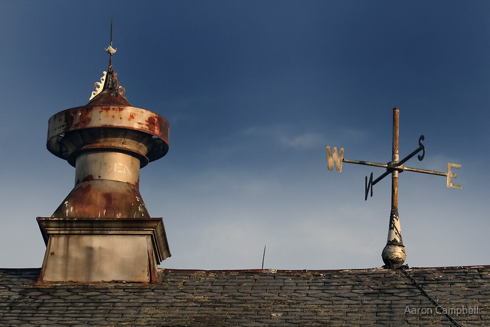 Barn vent & Weather vane by Aaron Campbell