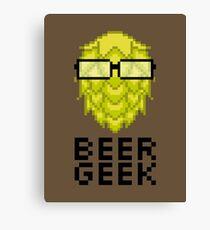 Beer Geek Canvas Print
