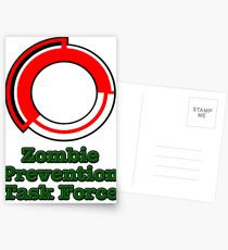 Zombie Death Corp Task Force Simple Postcards