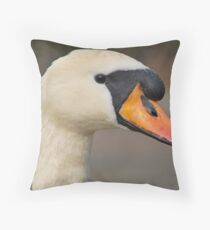 Mute Swan  Throw Pillow
