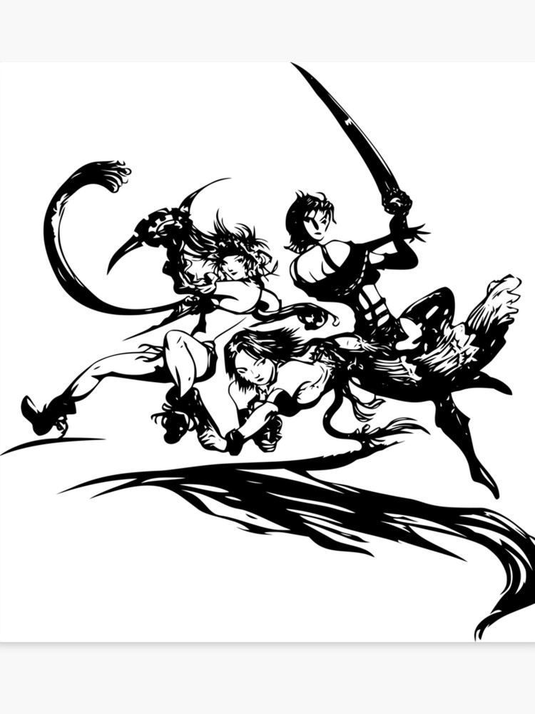 Final Fantasy X 2 Black Logo Canvas Print