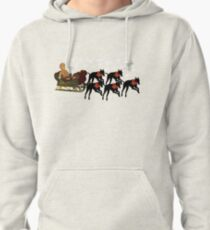 Greyhounds Gingerbread Man Sleigh Holiday  Pullover Hoodie