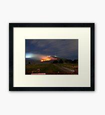 Bush Fires on Mt Dandenong, East Melbourne, Victoria, Australia  Framed Print