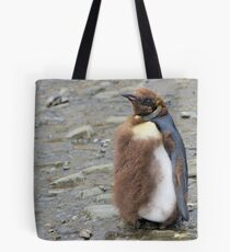 King Penguin Chick moulting in South Georgia Tote Bag