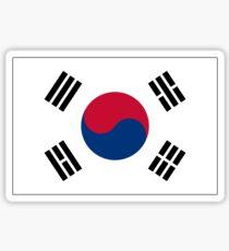 KOREA, KOREAN, South, Korean Flag, Flag of South Korea, Taeguk flag, Taegukgi, Taegeukgi, Pure & Simple, on BLACK Sticker