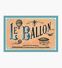 Vintage Hot Air Balloon Poster Photographic Print
