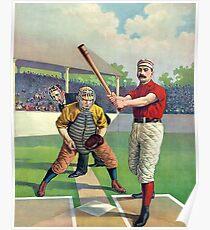 Old Baseball Illustration Poster