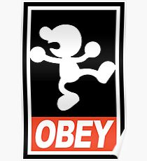 OBEY Mr. Game & Watch Poster