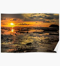 Sunset and the clouds Poster