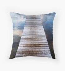 Sunrise at the Boat Shed Throw Pillow