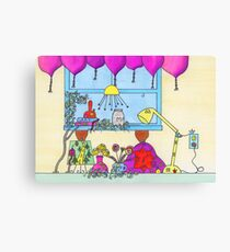 Little People on the Countertop Canvas Print