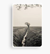 B&W Landscape Triptych III Leinwanddruck