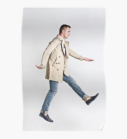 Trenchcoat Jump Poster