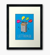 Leave them alone Framed Print