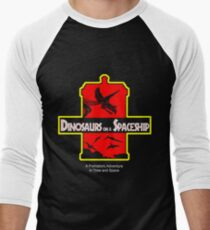 Dinosaurs on a Spaceship Men's Baseball ¾ T-Shirt