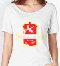 Dinosaurs on a Spaceship Women's Relaxed Fit T-Shirt