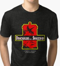 Dinosaurs on a Spaceship Tri-blend T-Shirt