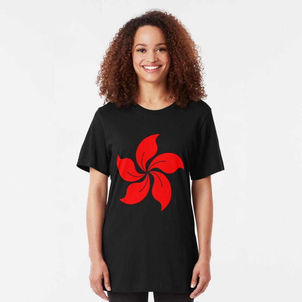 Oriental Flower Slim Fit T-Shirt