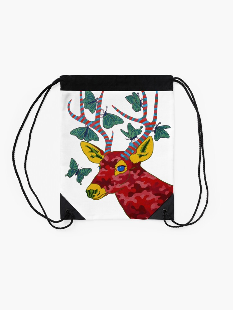 Alternate view of That Which Likened to Itself is Drawn Drawstring Bag