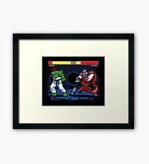 Sewer Fighter Framed Print